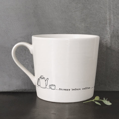 Porcelain Wobbly Mug - Stroppy Before Coffee 7222