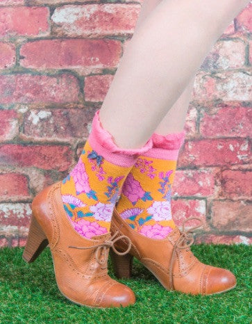 Powder Ankle Sock - Oriental Tangerine 5987