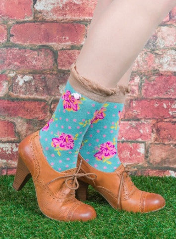 Powder Ankle Sock - Rosebud Mint 5991