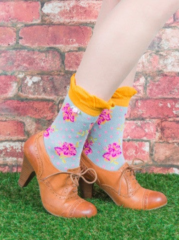 Powder Ankle Sock - Rosebud Grey 5992