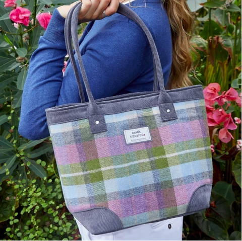 Earth Squared Tweed Tote Bag - Forest Flower 10154