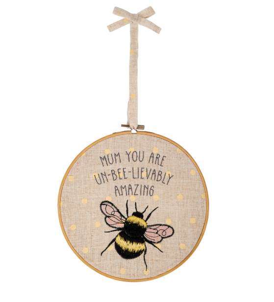 Mum Bee Embroidered Large Hoop 9456