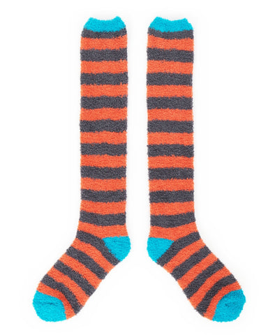 Powder Fluffy Bed Socks in Tangerine 9540