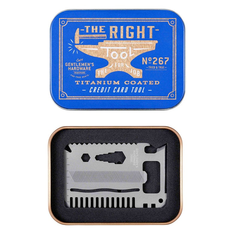 Gentleman's Hardware Credit Card Tool with Titanium Finish 8451