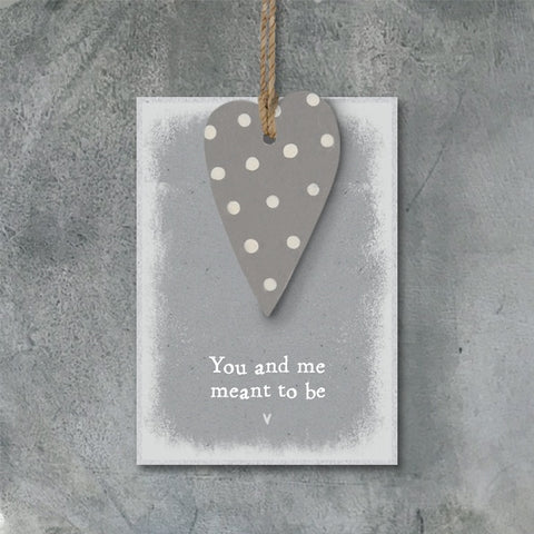 Dotty Heart Tag - You & Me Meant To Be 9136