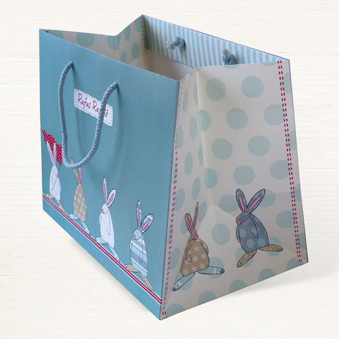 Rufus Rabbit Boy Lg Gift Bag 2827