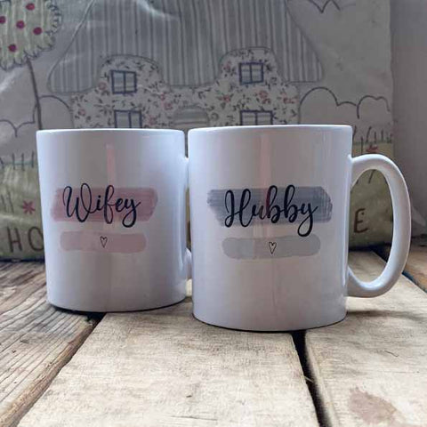 Highlights 10oz Mug Set - Hubby / Wifey 10704
