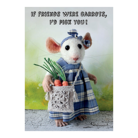 Tiny Squee Mousies Card - If Friends were Carrots 9508