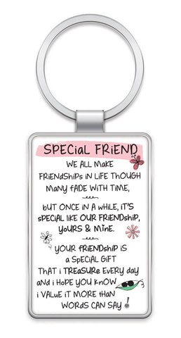 Inspired Words Keyring - Special Friend 6425