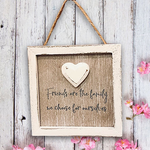 Friend Heart Hanger - Friends are Family 10803