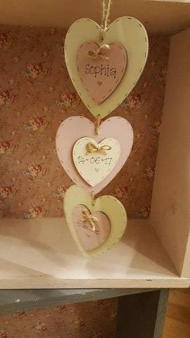 Set of 3 Double Heart Plaques 6705