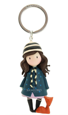 Gorjuss Figurine Keyring - The Foxes 5924