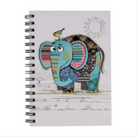 Bug Art A5 Notebook - Eric Elephant 10840