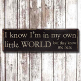 Metal Sign - Own Little World 8892