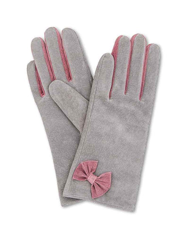 Glove - Gertrude Suede in Slate S/M 6879