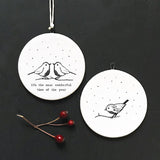 Flat Porcelain Bauble - Robins Most Wonderful 10643