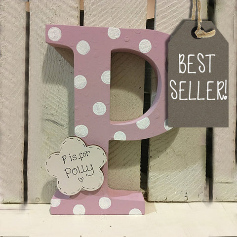 Large Wooden Personalised Letter - Lg Spot 6707