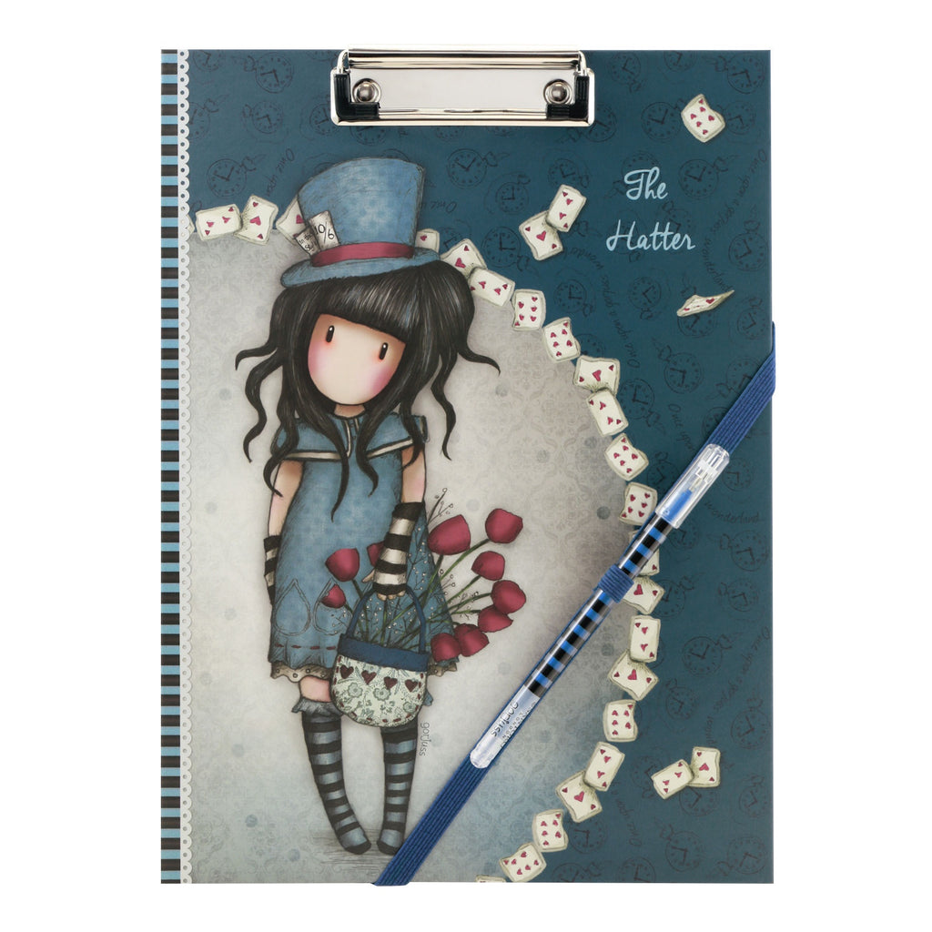 Gorjuss Clip Folio Pad with Pen - The Hatter 8468