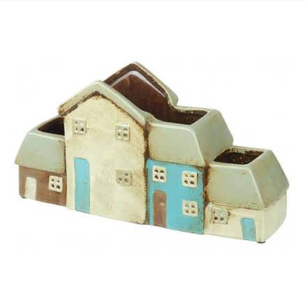 Ceramic House Planter 10255