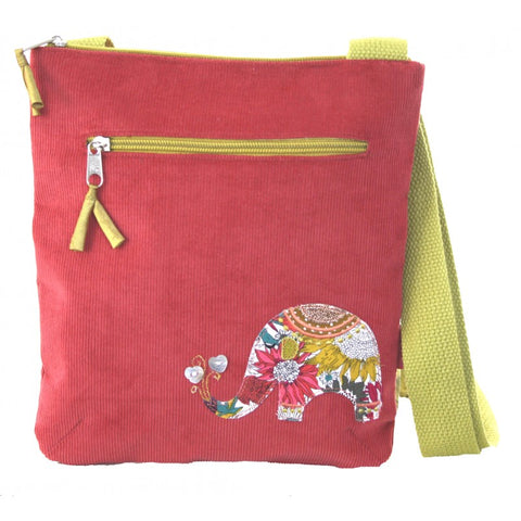 Lua Applique Messenger Bag - Elephant in Rose Pink 9397