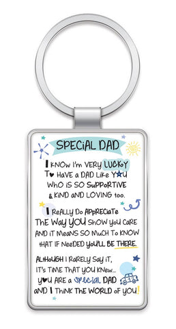 Inspired Words Keyring - Special Dad 6439
