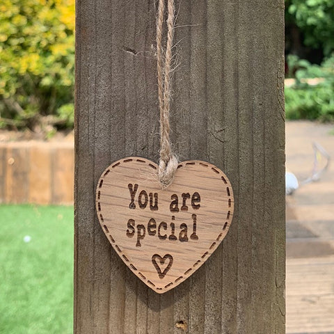 Handmade Little Sentiment Heart - You are Special 9998