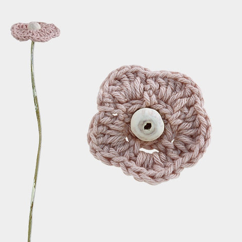 Crocheted Flower - Lt Pink 6603