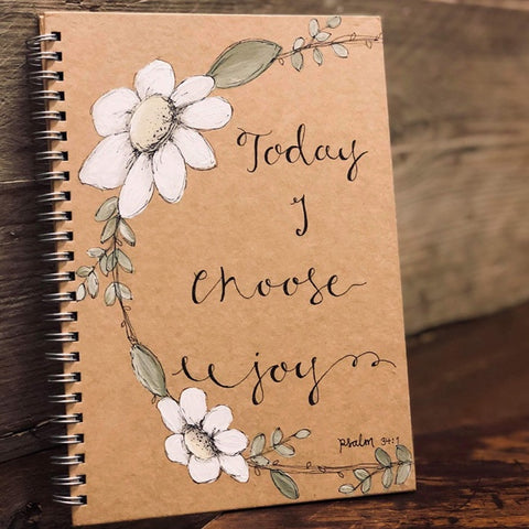 Handmade Notebook with Daisy Wreath - Choose Joy 9885