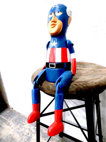 Wooden Captain America 25cm 6758