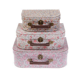 Vintage Floral Suitcase Set of 3 202