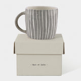Boxed Rustic Mug - Painted Wash Stripes 9625