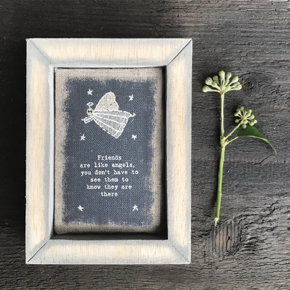 Embroidered Box Frame - Friends Like Angels 9603