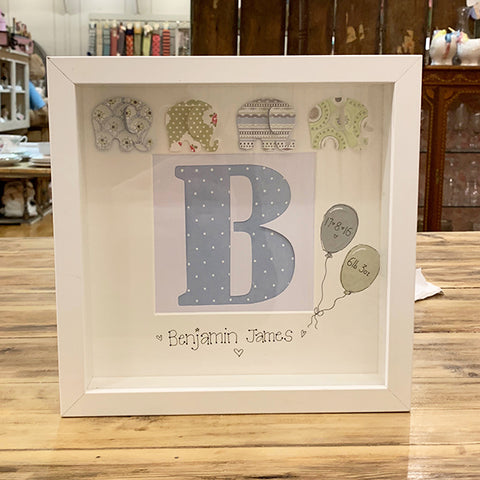 Frame - Letter Cutout with Elephants 7196