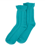 Forever England Ankle Sock - Ruffle Top Turquoise 8314
