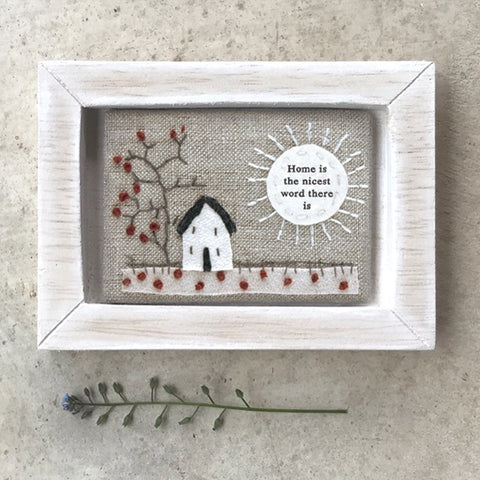 Embroidered Picture -Home is the Nicest 10351