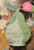 Personalised Standing Pear Block 7255