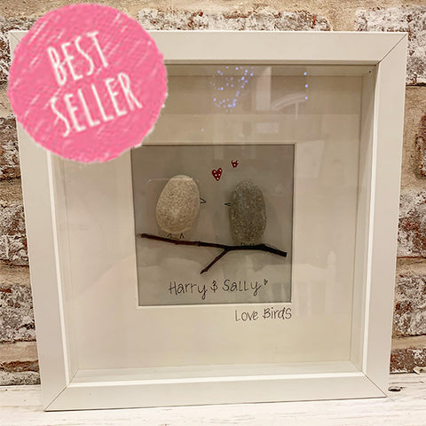 Pebble People Sm Box Frame - Love Birds 7291