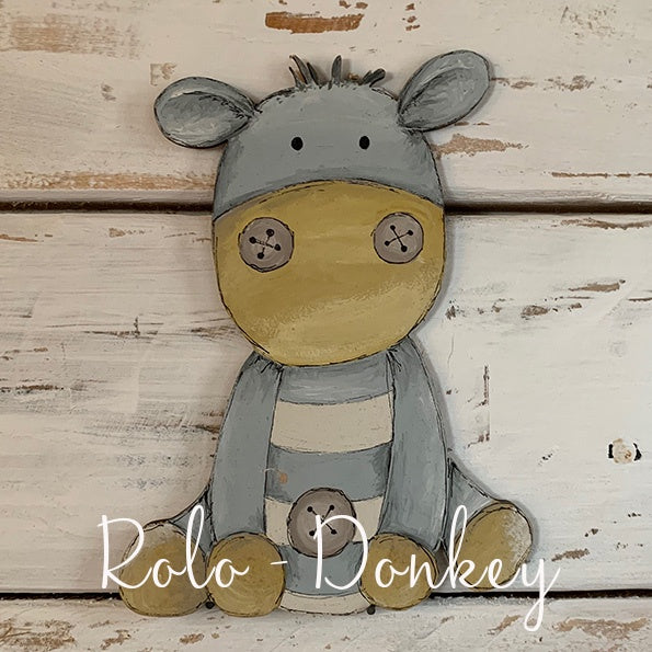 Personalised Animal Range - Rolo Donkey Lg Plaque 9676