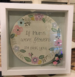 Round Plq in Md Box Frame with Floral Border 7347