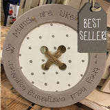Personalised Wooden Button with String 14.4cm  -  7388