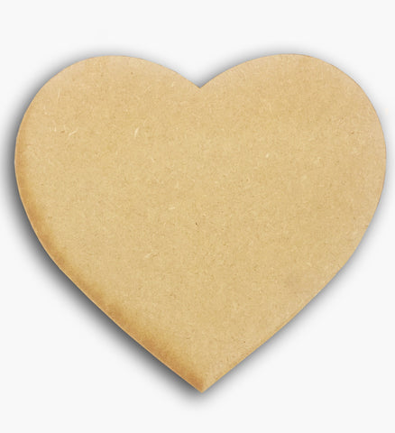 "Heart Plaque Wooden Blank 6"" 8581"