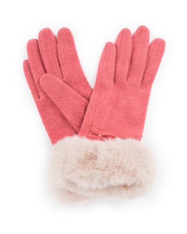 Powder Tamara Wool Gloves in Coral 8214