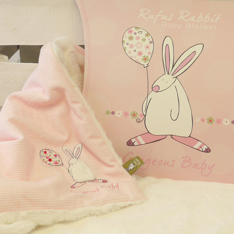 Rufus Rabbit Girls Snuggle Blanket 1946