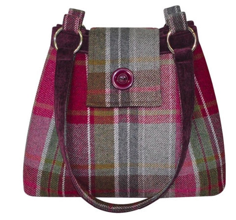 Earth Squared Tweed Ava Bag - Plum 6405
