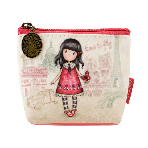 Gorjuss Cityscape Coin Purse - Time to Fly 7577