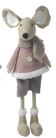 Fabric Mouse with Scarf - Grey 6812