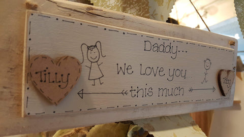 Personalised Pallet Plaque - We Love you this Much 7775
