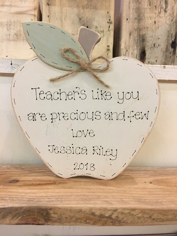 Personalised Teacher Apple Block 7789