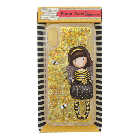 Gorjuss Iphone X/XS Glitter Filled Case -Bee Loved 8944