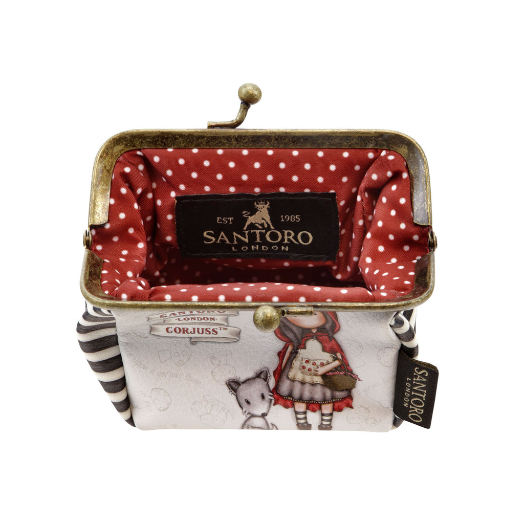 3e2a37103ac Gorjuss Puffy Clasp Purse - Little Red Riding Hood 8102. Images   1   2   3    4 ...